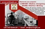 Portfolio Writing 971508200128 Boost your profile with Company Profile Designing in UAE