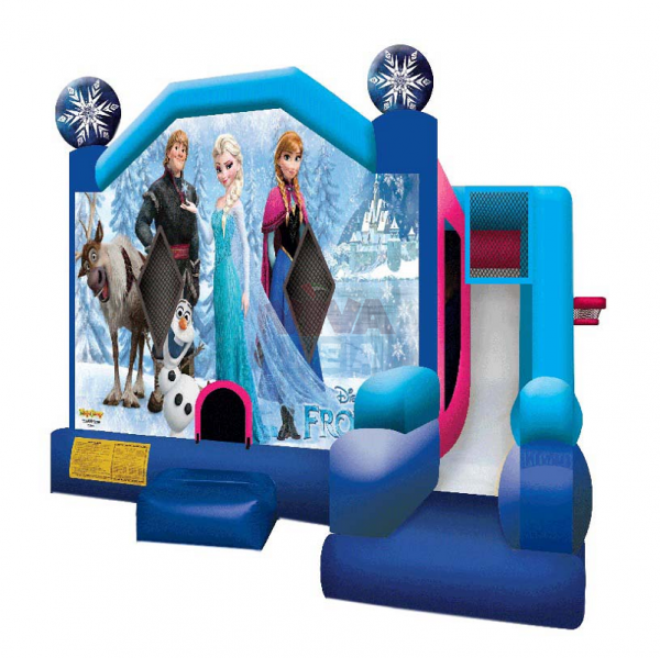 Frozen Jumping Castle Bouncy Slide Inflatable Combo