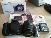 For sale Canon EOS 7D Mark II DSLR Camera with 18-135mm f/3.5-5.6 IS USM Lens & W-E1 Wi-Fi Adapter