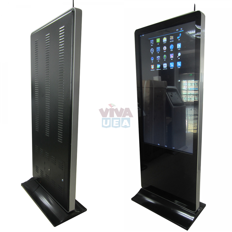 32 inch floor stand LCD monitor multi touch screen kiosk