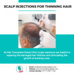 Scalp Injections for thinning hair