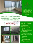 Lovely Huge 2 Bedroom apartment for rent
