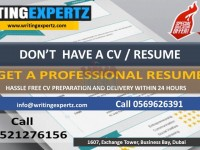 Sample Resume and LinkedIn Profile Writers in UAE? Call 0569626391 Expert CV Writers