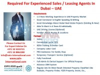 Required for experienced sales/ leasing agents in Dubai- UAE