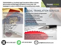 Certified Translation from TRANSHOME