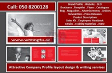 0508200128 Creating Attractive Company Profile Writing Services in Ajman, UAE