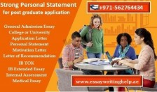 Strong Personal Statement for Post-Graduate Application in UAE