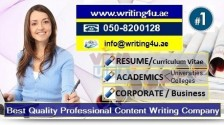 0508200128 Prime Quality Content Writing Services in UAE (CV, Academic, Corporate)