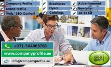 0504968788 Advertising, Brochures, Company Profile Writing in Ajman UAE