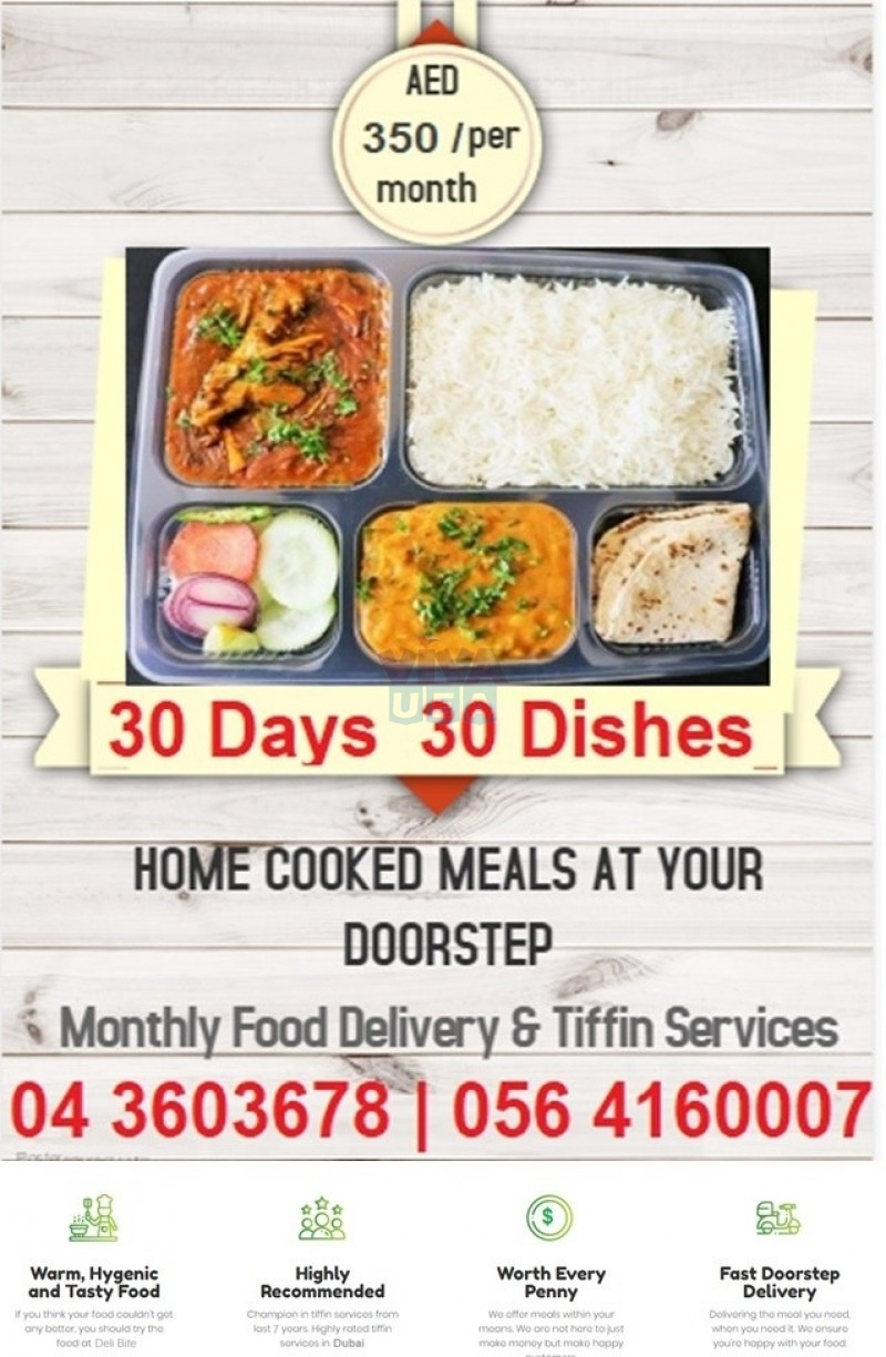Home Style Indian Monthly Meals Tiffin Services in Dubai