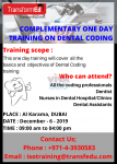 ONE DAY TRAINING ON DENTAL CODING