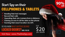 TheOneSpy Merry Christmas sales 90% off on Android plans