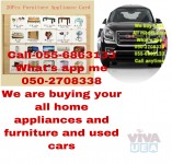 0556863133,WE BUY BEDROOM SOFA DINNING FRIDGE WASHING COOKER TVS ACS AND USED CARS