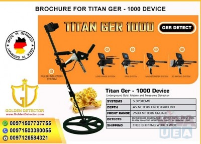 METAL DETECTOR  TITAN GER 1000 - 5 SYSTEMS