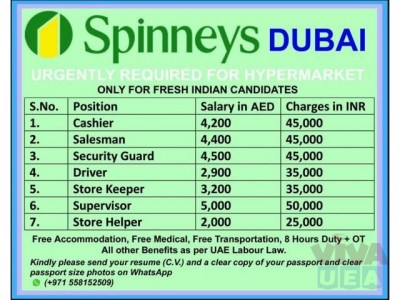 Jobs In Spinneys Dubai