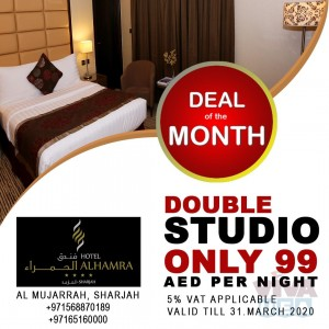 Deal of the month- 4 Star Hotel Studio AED 99