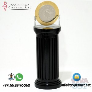 Crystal Coin Trophy for Corporate Office in Dubai