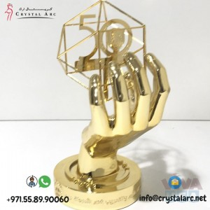 Unique Design Crystal Trophy for Office in Dubai