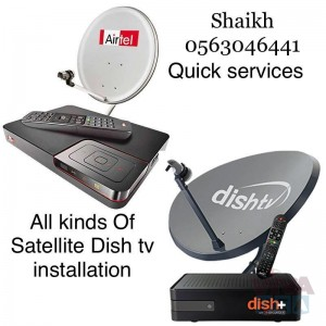 Satellite Dishtv Installation 0563046441 Airtel Services In Dubai