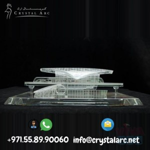 Crystal 3D Model of Metro Station for Hospitals in Dubai