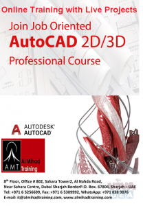 #Online Training or #Campus training on #AutoCAD 2D/3D.