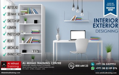 Interior Designing Training by using #AUTOCAD ,#3DS MAX, #Sketch Up, #Lumion, #Revit, #Archicad, #Rhinoceros