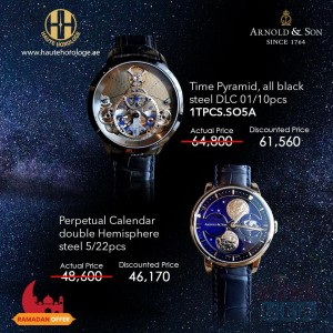 Haute Horologe Ramadan Special Offer for Arnold & Sons Watches