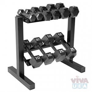 PVC Coated Dumbbell Set with Rack in Dubai, UAE