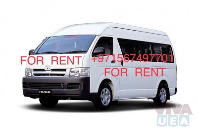 Toyota Hiroof Hiace VAN for Rent Dubai