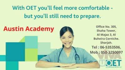 OET Classes in sharjah with best offer 0503250097