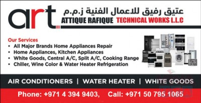 Home Appliances Repair, Fixing and Maintenance Services in all areas of Dubai
