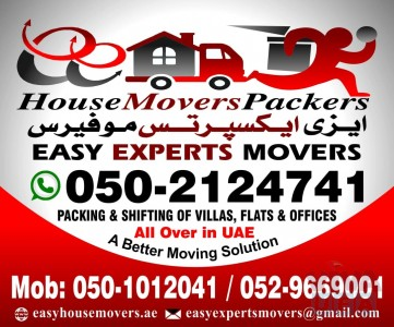 EASY HOUSE MOVERS AND PACKERS 0502124741 COMPANY IN RAS AL KHAIMAH