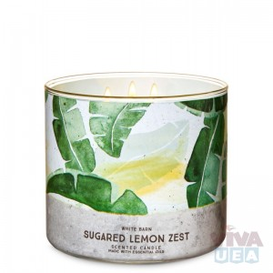 Bath and Body Works White Barn Sugared Lemon Zest 3-wick Scented Candle 411g