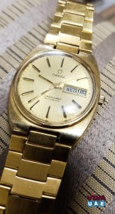 Vintage Omega Seamaster Womens Gold Wristwatch