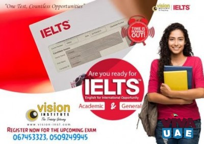IELTS Preparation start at Vision Pass with a Band 8 Score call - 0509249945