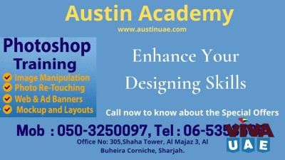 Photoshop Training in Sharjah with good offer call 0503250097