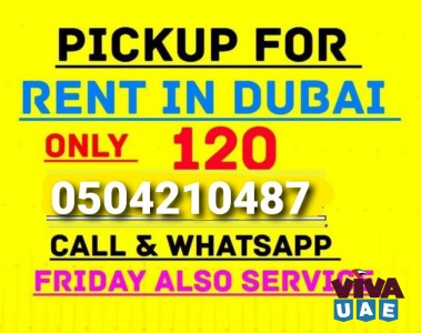 pickup truck for rent in al warqa 0504210487