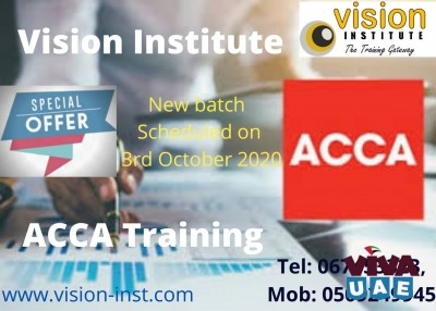 ACCA COURSE AT VISION INSTITUTE AT AJMAN CALL-0509249945