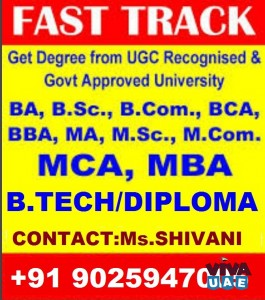 FAST TRACK DEGREE DIPLOMA FOR WORKING PROFESSIONALS /FAILED/DISCONTINUED STUDENTS