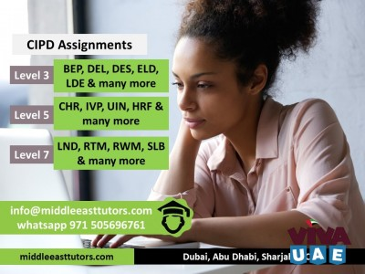 Take expert help for CIPD level 5 Call +971505696761 L&D assignments in Dubai